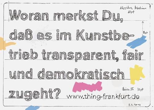 Postkarte thing-kunstbetrieb-karte-transparenz-demokratie