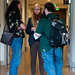 John Metta, Max Ogden and Bill Jackson chat in the hallway by Igal Koshevoy