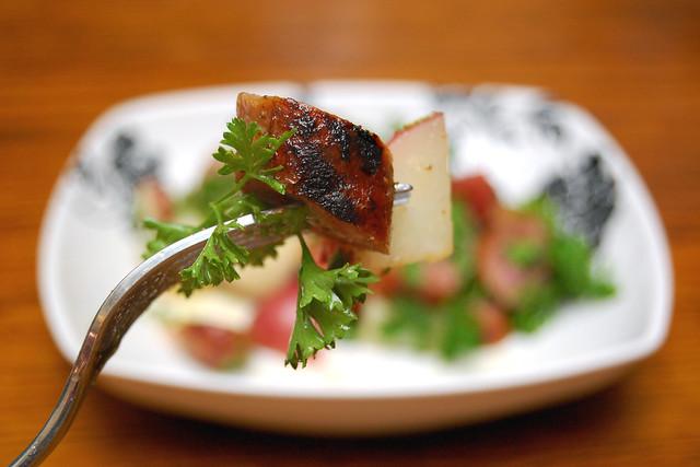 Potato and sausage salad