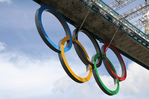 Under Olympic Rings