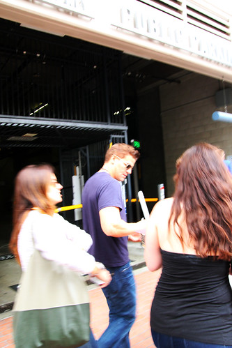 Blurry Photo of David Boreanaz walking by