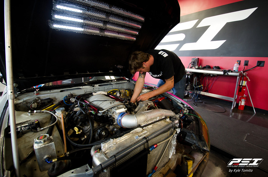 Ryan Tuerck changing spark plugs