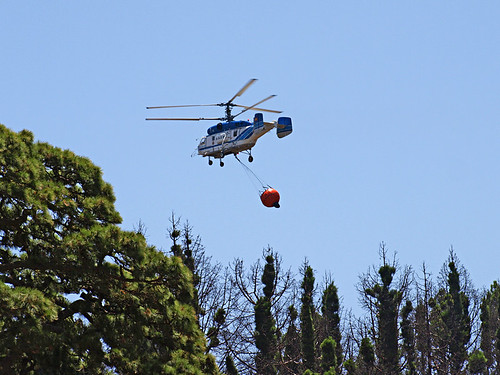 Fire-fighting Helicopter in Tenerife's Hills