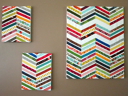 Scrappy Chevron wall art