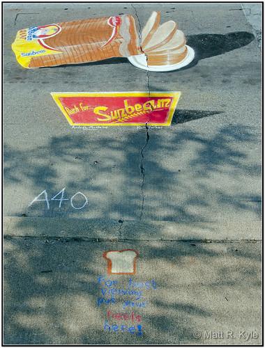 street color art canon painting bread chalk perspective trf sidewalk sunbeam chalkwalk fortwaynemuseumofart