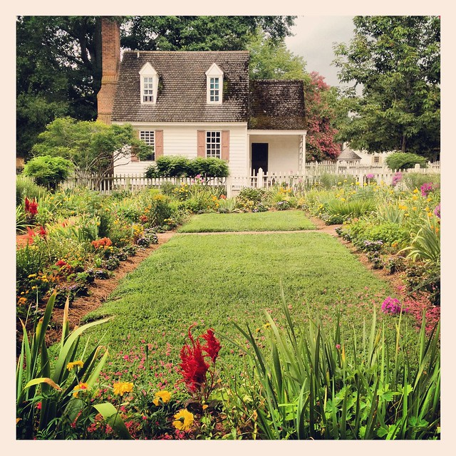 Colonial Williamsburg Virginia Home Cottage Garden History