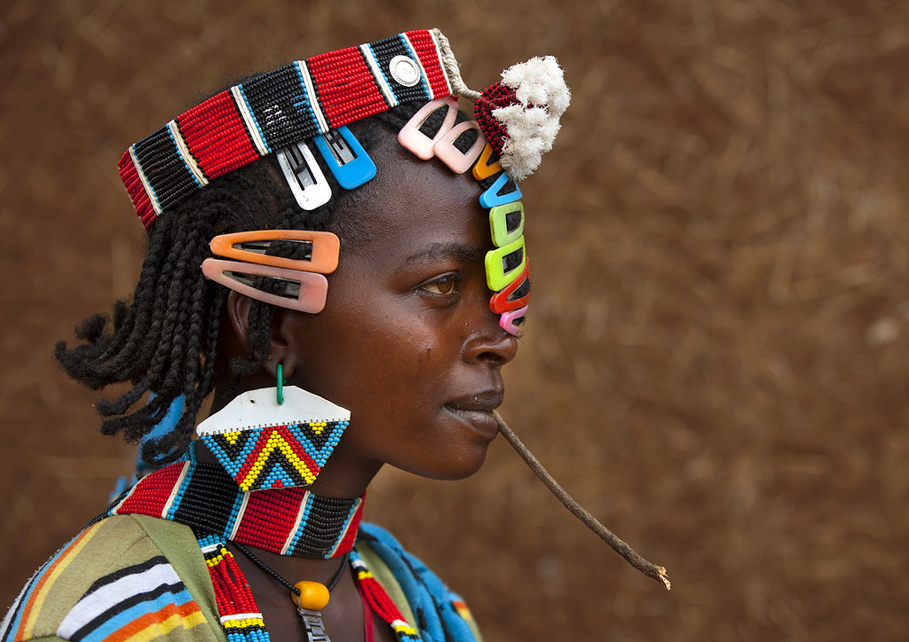 Fashion in Bana tribe, Key Afer, Omo, Ethiopia