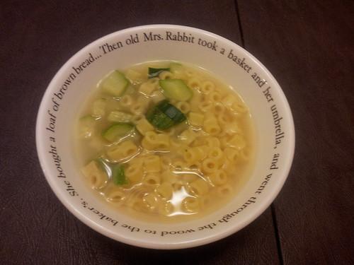 Ditalini and Zucchini Soup