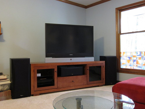 the new entertainment center