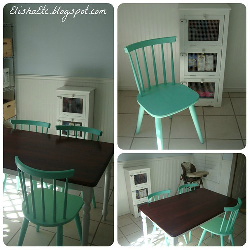 mint chalk paint chairs