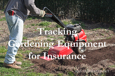 Track Gardening Tools for Insurance