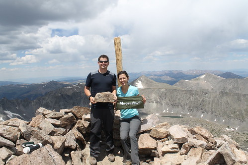 Mt. Quandary, Colorado elevation 14,265'
