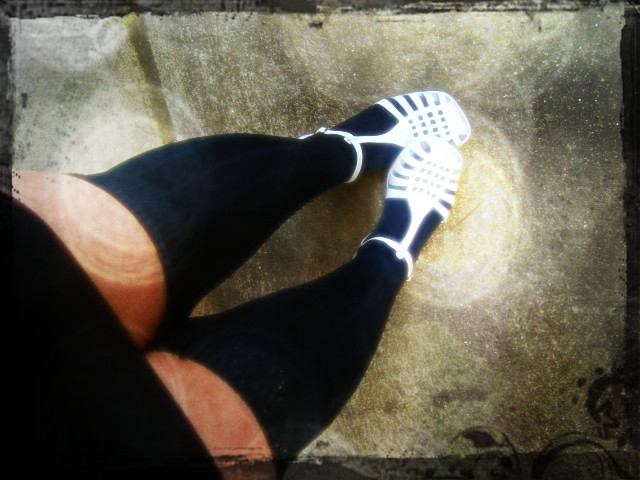 Melissinha nova... meias que amaria usar, se não tivesse pernótas tão grossinhas...aff