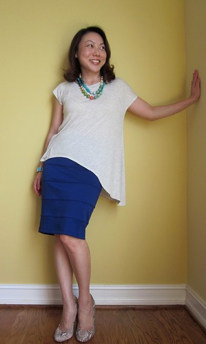 asymmetric & blue
