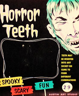 Oh The Horror ...Teeth!! Awesome card from the Austin Art Studio of Omaha Neb circa early~mid 60s.