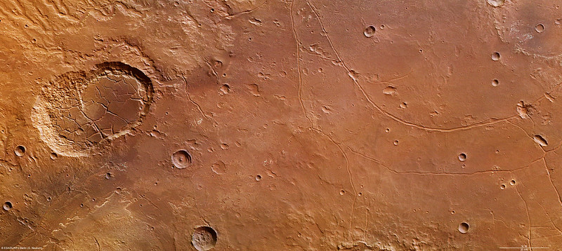 The fractured features of Ladon basin