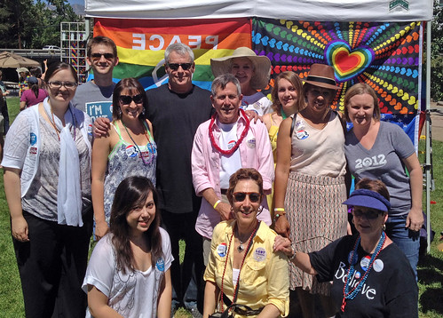 Cleve Jones & volunteers at Rainbow Fest