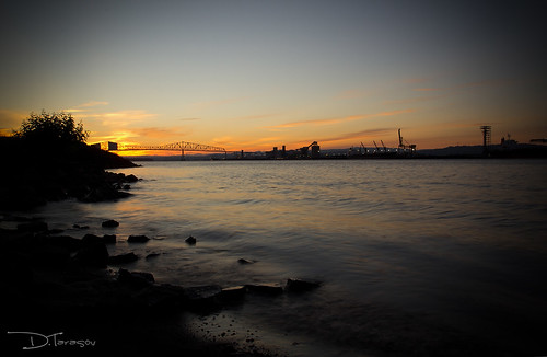 sunset sky sun water oregon canon river harbor washington dock rocks long state columbia rainier ef t3i exosure