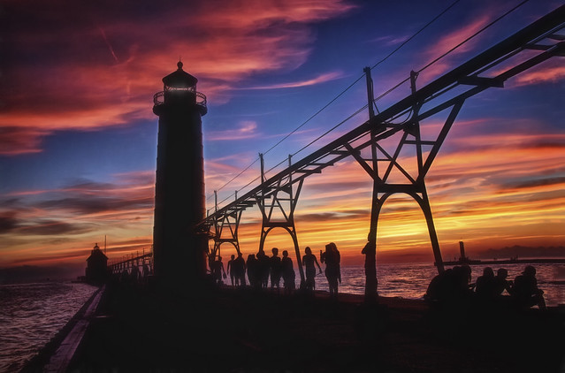 Sunset From the Pier - Grand Haven, Michigan