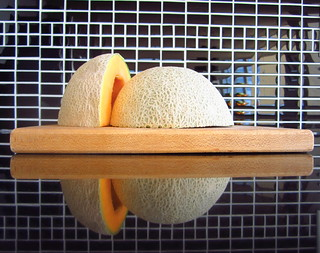 Cantaloupe as art