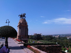 Outside the Union Buildings