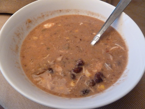 CrockPot Salsa Chicken and Black Bean Soup
