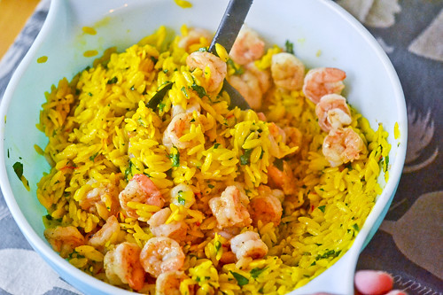 Saffron Orzo with Shrimp 9