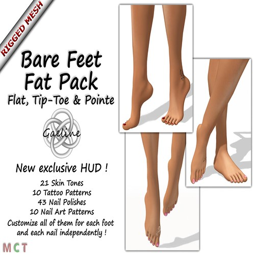 FANTASTIC MESH BARE FEET WITH HUD ! by mimi.juneau *Mimi's Choice*