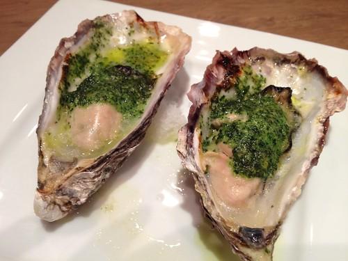 牡蠣のガーリックバターオーブン焼き@Oysterbar&Wine BELON (オイスターバー&ワイン ブロン)
