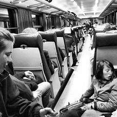 Crowded train.