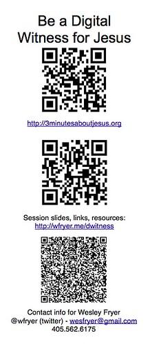 QR Code Presentation Handouts