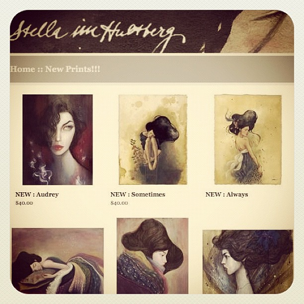 New prints are in the shop! Http://shop.stellaimhultberg.com
