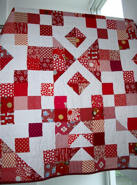 arrowhead corner quilt hanging