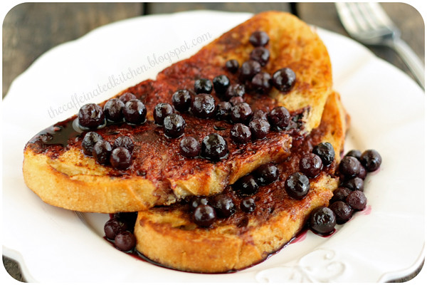 French Toast w/Blueberry Sauce
