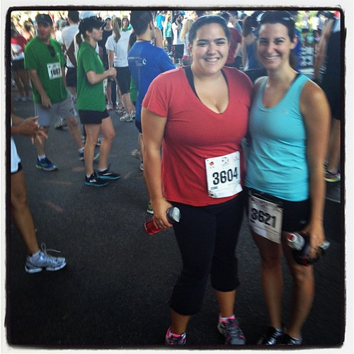 Me and Lauren before the lawyers have heart 10k