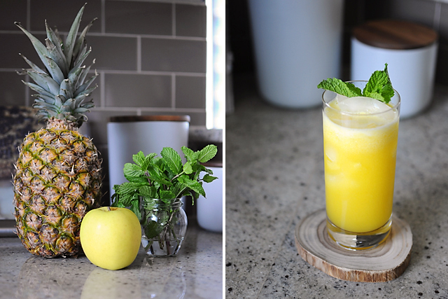making-pineapple-apple-mint-juice