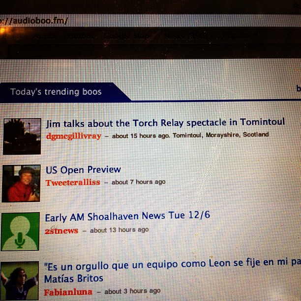 #Tomintoul still trending on @audioboo with 2583 plays to date:-) #citizenrelay local to global