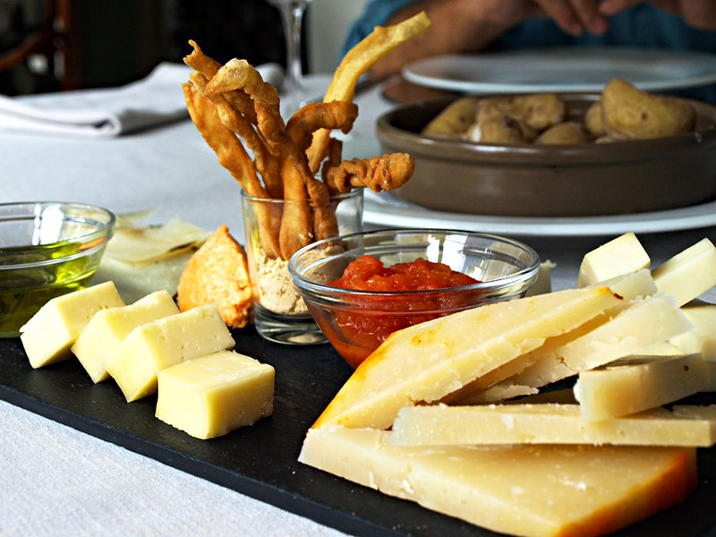 Selection of Cheeses at hotel Escuela Santa Brigida, Gran Canaria