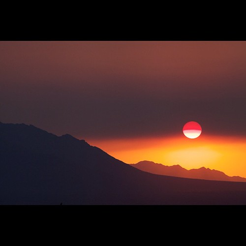 Sunset, wildfire haze, by Jonathan Hanson by ConserVentures
