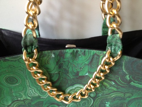 Malachite + Gold Shoulder Bag 39