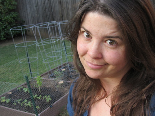 No makeup at twilight, watering the garden. Shit be getting real, yo.