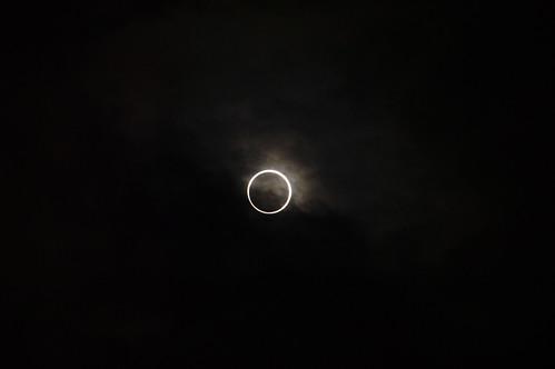 金環日食 an annular eclipse