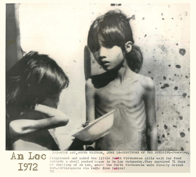Vietnamese Children During the War - An Loc 1972 - SURVIVORS OF THE SHELLING