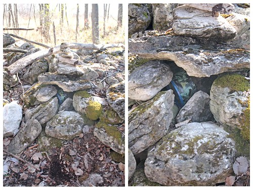 Letterboxing rock pile