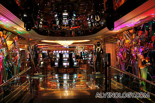 Entering the ship casino