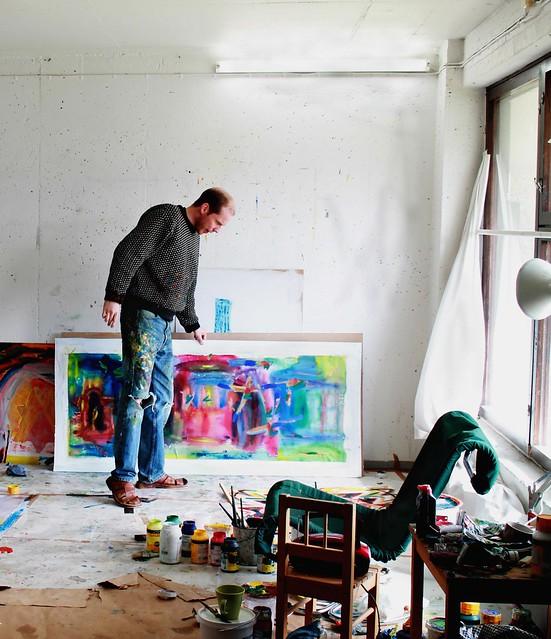 Henri Hagman v ateliéri