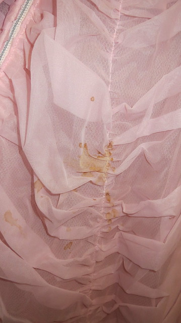 stain on back of dress