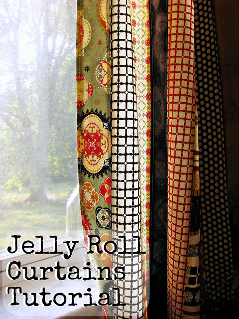 Jelly Roll Curtains Tutorial