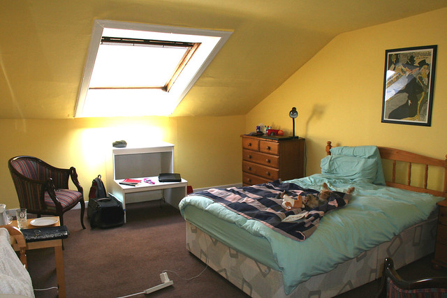 Sunny attic room