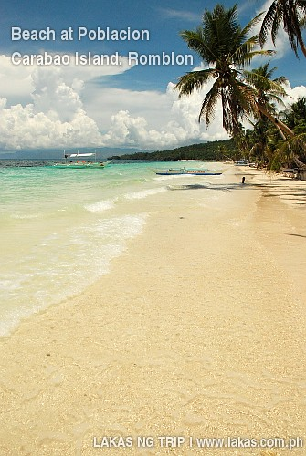 Beach at Poblacion, Carabao island, Romblon